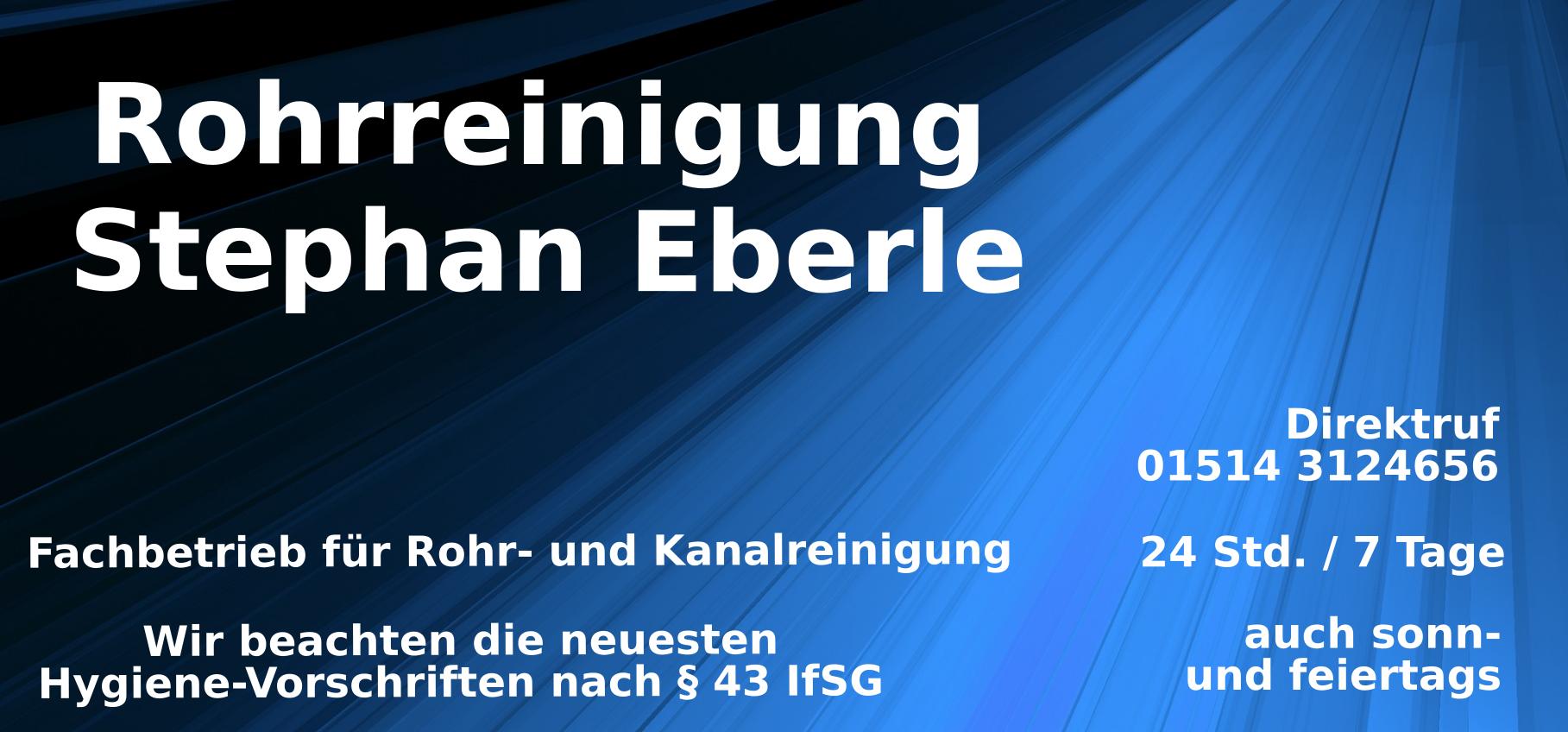 Rohrreinigung Stephan Eberle